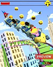 Rollercoaster rush: new york java game for mobile. Rollercoaster.